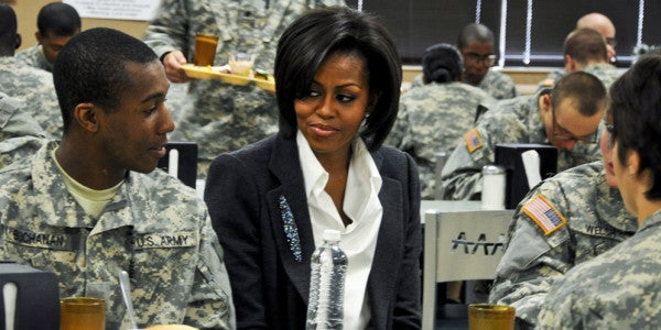 First Lady Supports Veteran Initiative To Keep Hollywood In Check