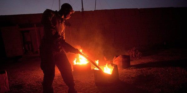 Burning Human Waste