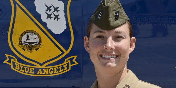 First Female Aviator To Join Blue Angels Breaks Gender, Sound Barriers