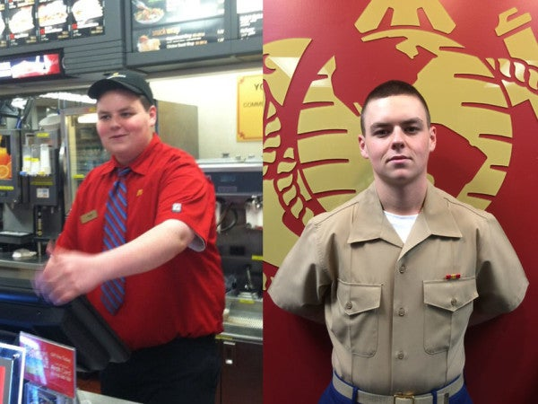 This Former McDonald's Employee Lost 120 Pounds To Join The Marine Corps