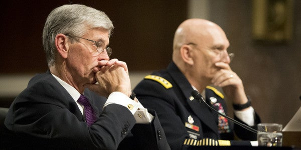 Secretary of the Army John McHugh and Army Chief of Staff Gen. Raymond T. Odierno