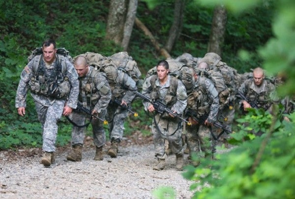 Female Ranger Candidates Reach New Heights