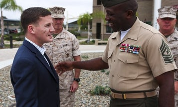 Kyle Carpenter Stole The Sergeant Major Of The Marine Corps' Chair