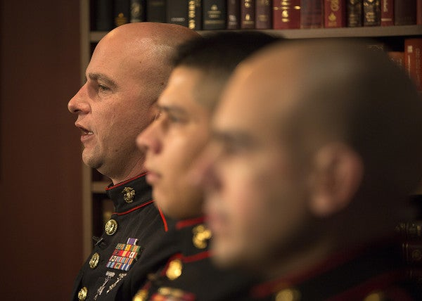 UNSUNG HEROES: Marine Recruiters Use MCMAP To Stop Robber, Still Keep Dress Blues Clean