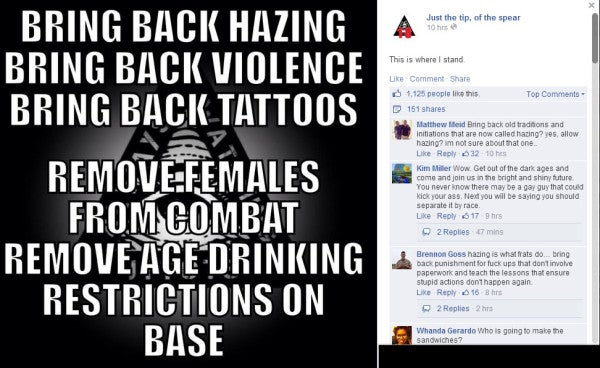 The Sexist Facebook Movement The Marine Corps Can't Stop