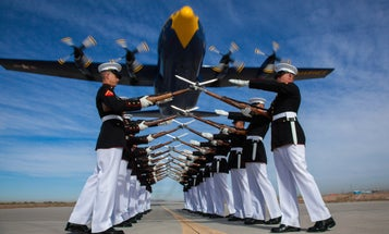 Photo Of The Day: The Marine Silent Drill Team And The Blue Angels
