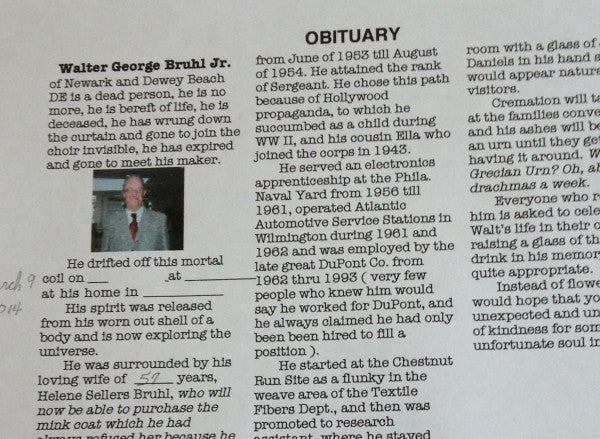 Leave It To A Marine To Write His Own Hilarious Obituary