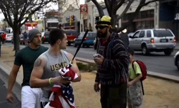 Watch Two Really Motivated Vets Chase Someone Down Who Was Disrespecting The Flag
