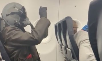 Someone wore a flight suit on a commercial aircraft and we're absolutely here for it