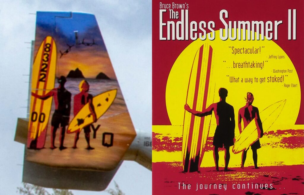 We salute this Marine tiltrotor squadron for rocking this sweet 'Endless Summer' tail art
