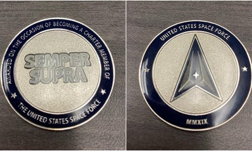 The new Space Force challenge coins look like tokens you'd spend at Chuck E. Cheese