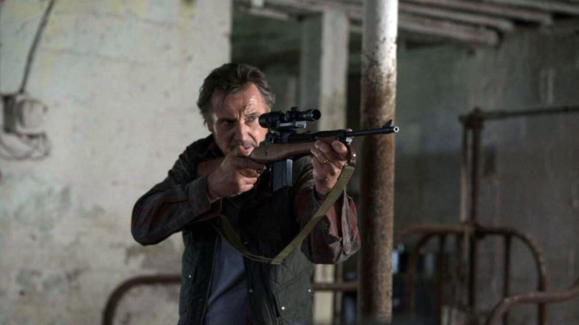 Liam Neeson plays a Marine vet battling Mexican cartel thugs in new action flick 'The Marksman'