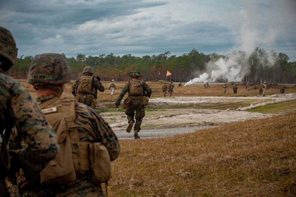Marines go up against more 'realistic enemy' of robots and terrain at new live-fire range