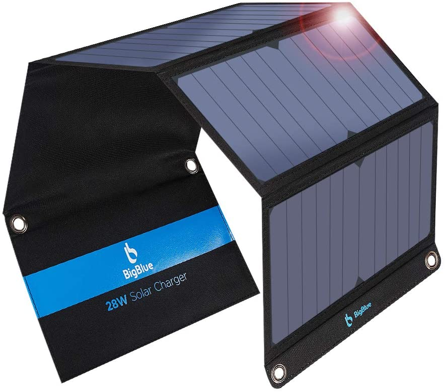 BigBlue foldable solar phone charger