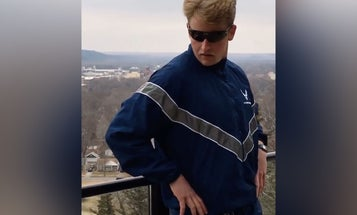 We salute the airman who just made Air Force PT gear sexy