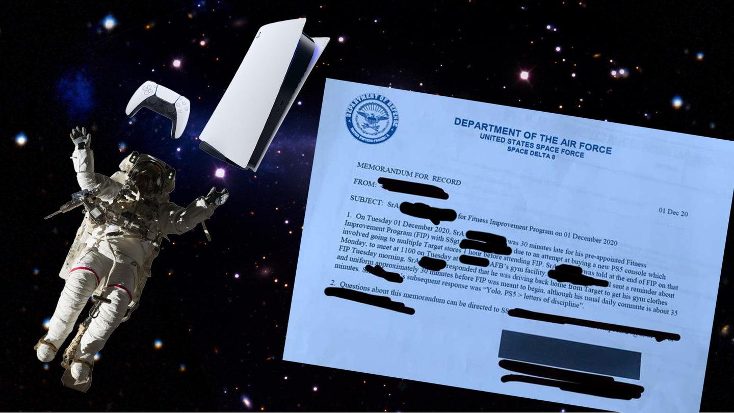 A Space Force member was busted down a rank for bailing on PT to get a PlayStation 5