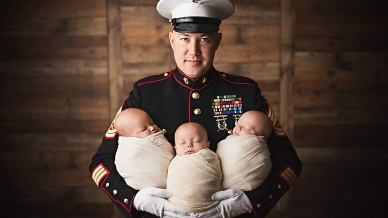 We salute the Marine Corps infantryman who rescued an infant from a burning car