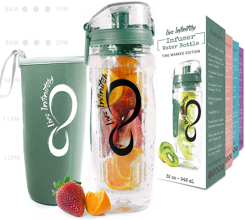 Live Infinitely infuser bottle