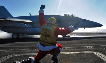 That time the USS George Washington won the sh*t out of Christmas
