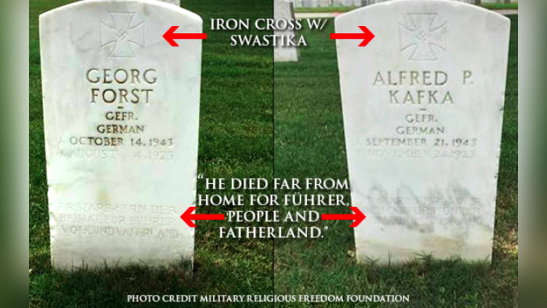 Two Nazi headstones removed from veteran cemetery in Texas
