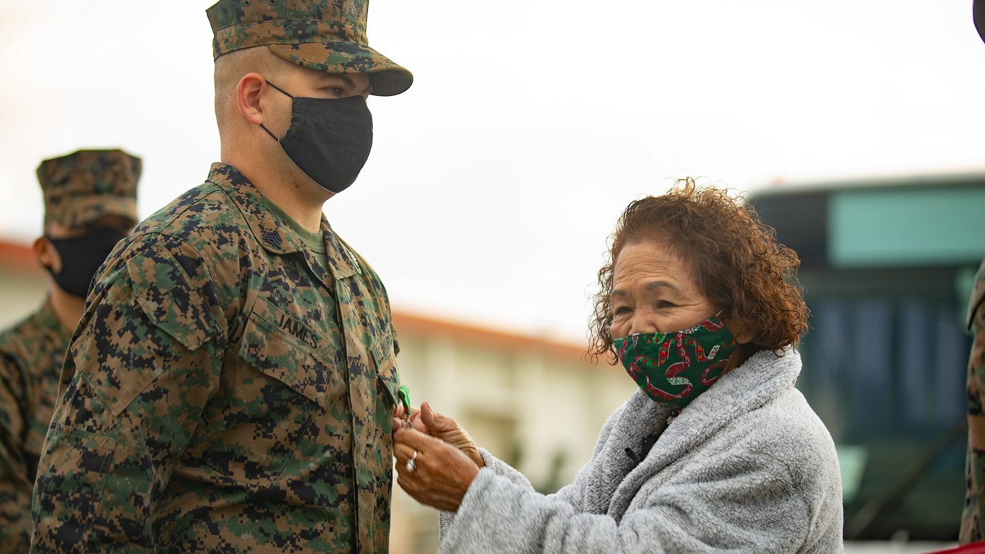 Marine awarded for saving elderly woman from deadly viper attack