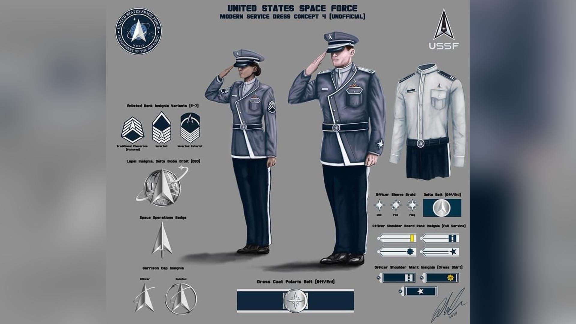 No, these Space Force uniform concepts aren't real