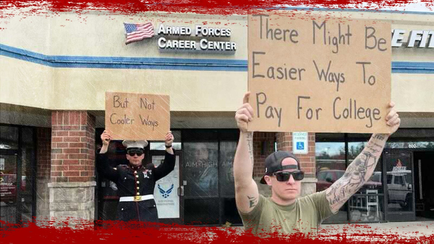 Meet 'Veteran With A Sign,' the Marine grunt who became a meme philosopher