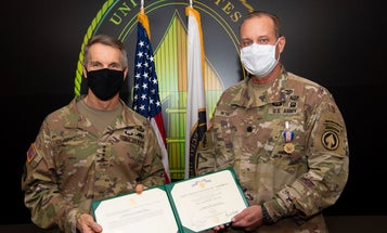 Special Forces doctor awarded for saving lives despite his own injuries following a motorcycle accident