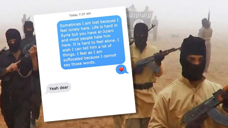 These messages between an Army vet and her terrorist sweetheart will make you cringe