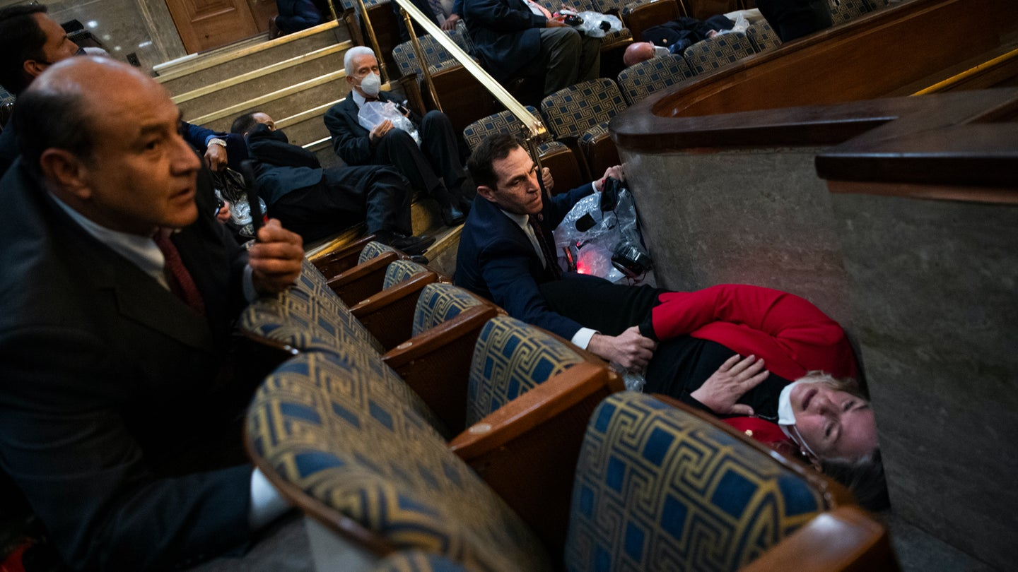 See inside the Capitol after a pro-Trump mob stormed the building