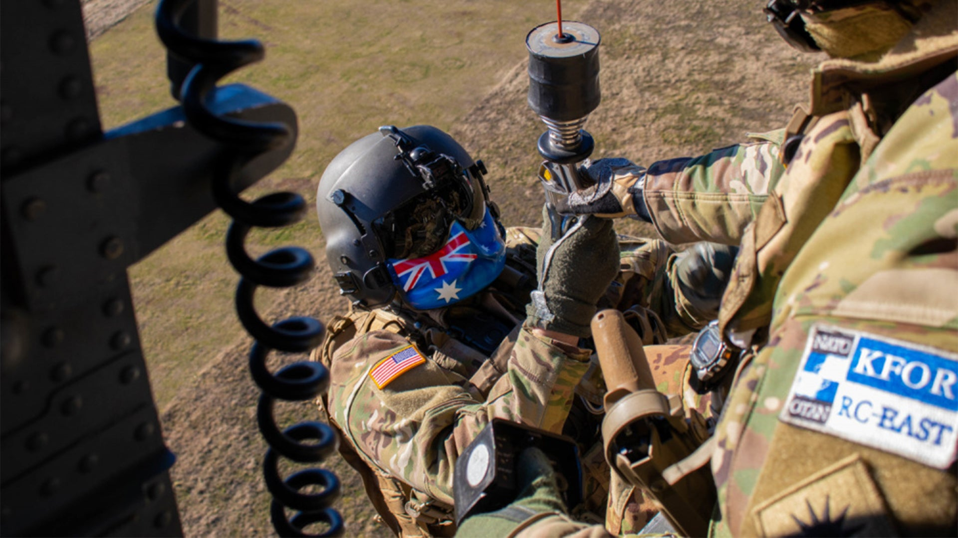 Here's the fascinating story behind this Army paramedic's distinct flight mask
