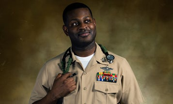 'An everyday hero' — Navy Corpsman saves a man's life after serious car accident