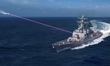 The Navy just got its hands on a new frickin' laser weapon to play with