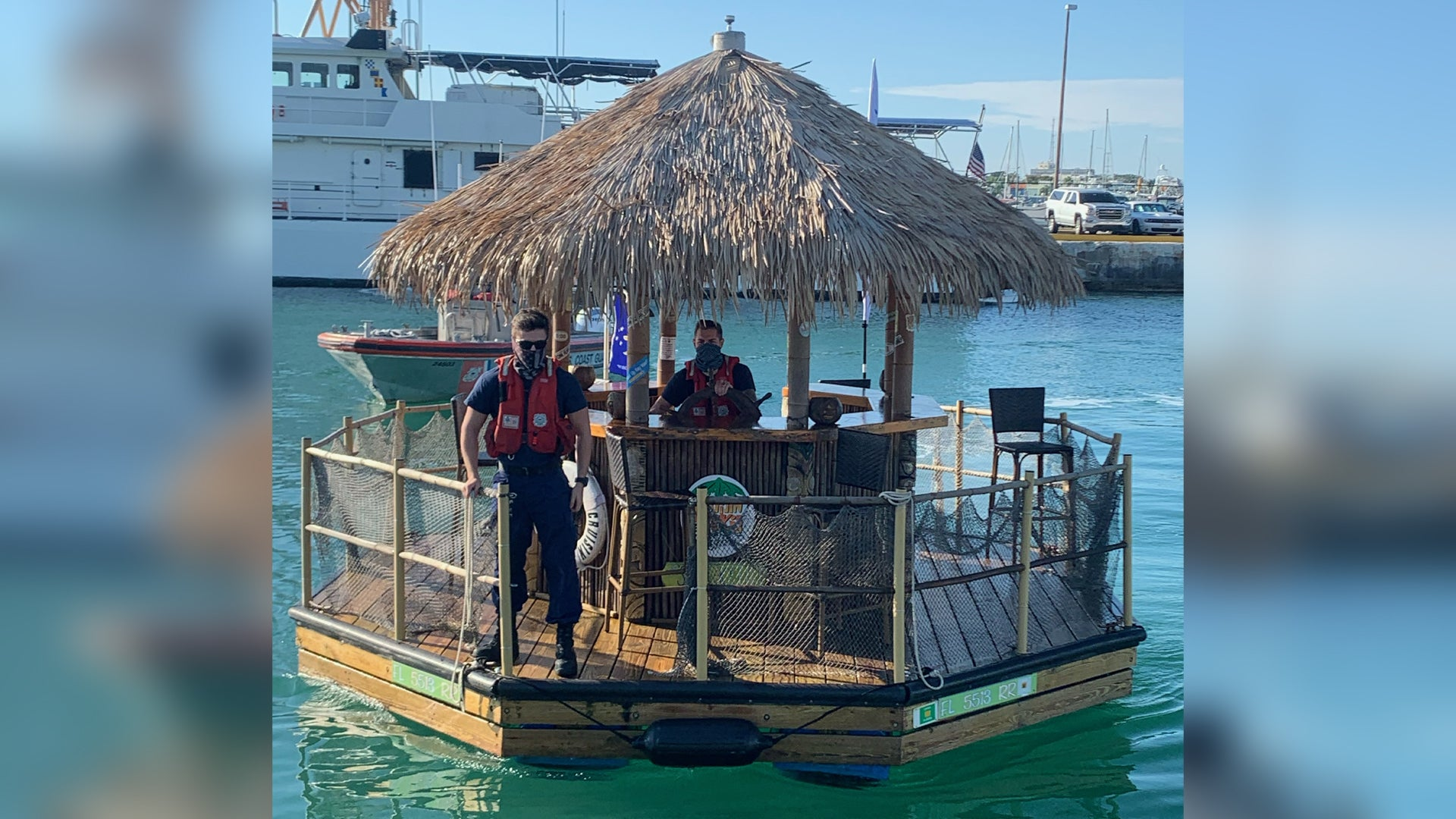 In other news, the Coast Guard has recovered a stolen tiki hut boat