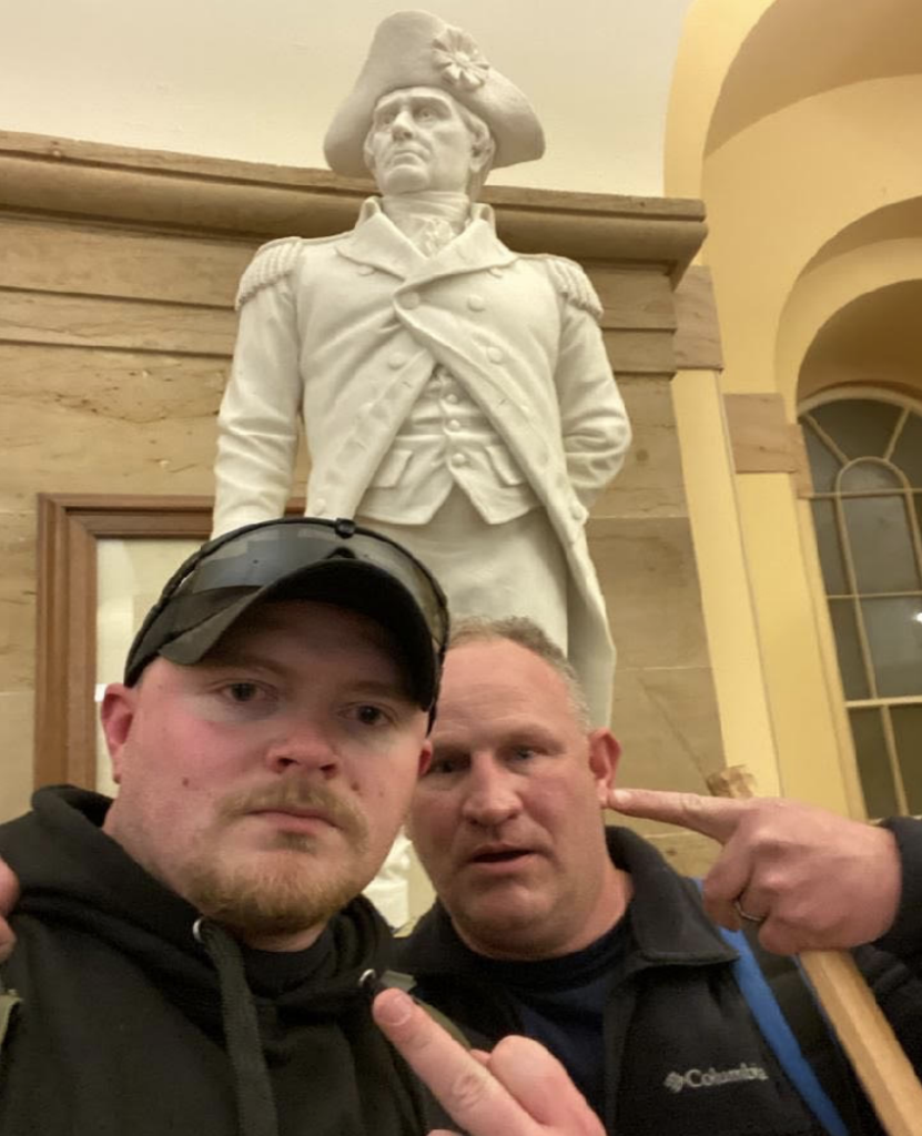 National Guard infantryman arrested after taking selfie inside the Capitol during riots