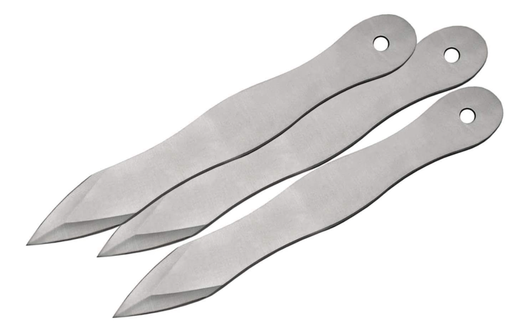 6 throwing knives for sticking your target
