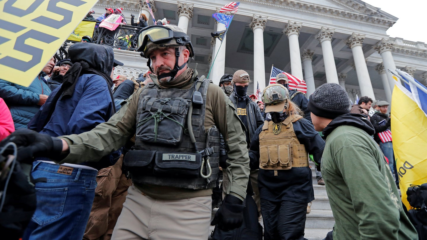 A Marine vet in a militia group was among rioters who stormed the Capitol