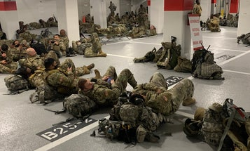 National Guard members forced to sleep in parking garage following Biden inauguration