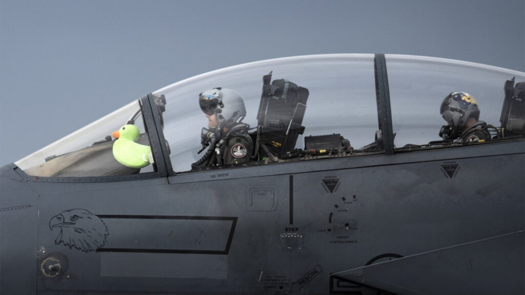 The adorable story of Scoff, the plushy ducky who flies in an F-15