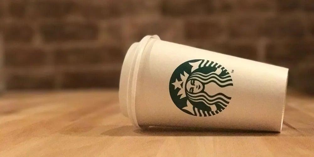 Fallen Starbucks Cup