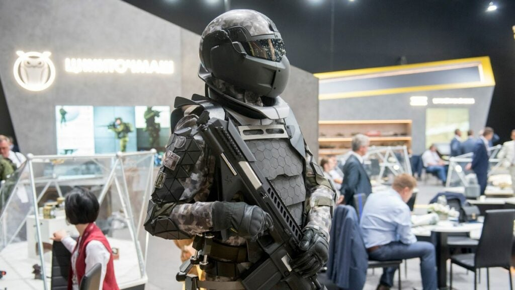 Russia is building a futuristic combat suit it claims can stop .50 caliber bullets