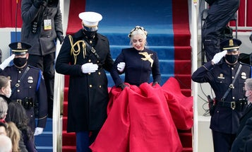We spoke with the Marine from this viral Inauguration Day photo with Lady Gaga