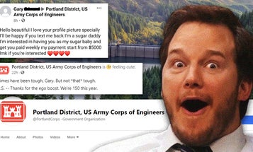We salute Portland's Army Corps of Engineers for trolling the hell out of a bot on Facebook