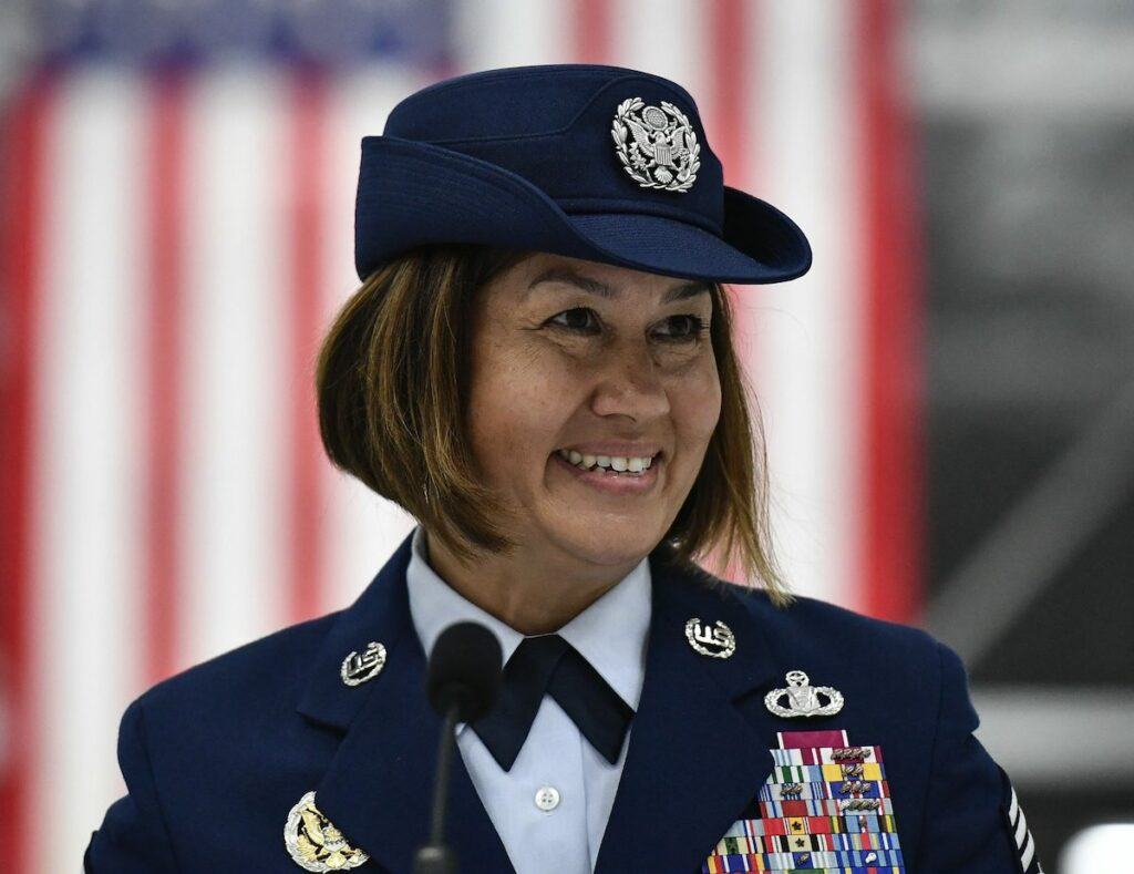 The Air Force's top enlisted leader opens up about her recent Facebook firestorms