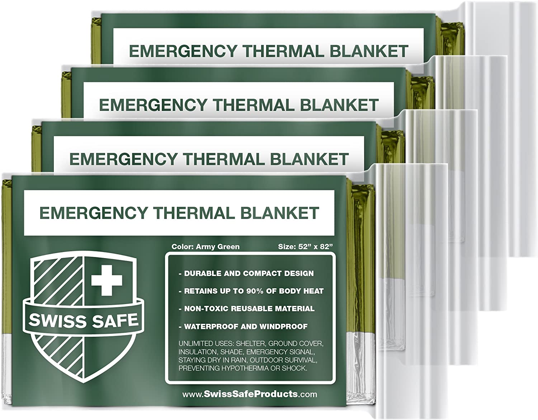Swiss Safe Store Emergency Mylar Blankets