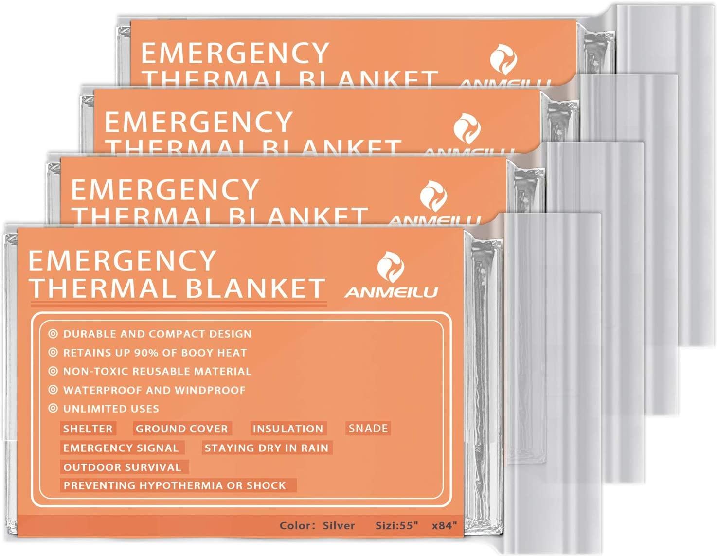 Anmeilu Emergency Mylar Thermal Blanket