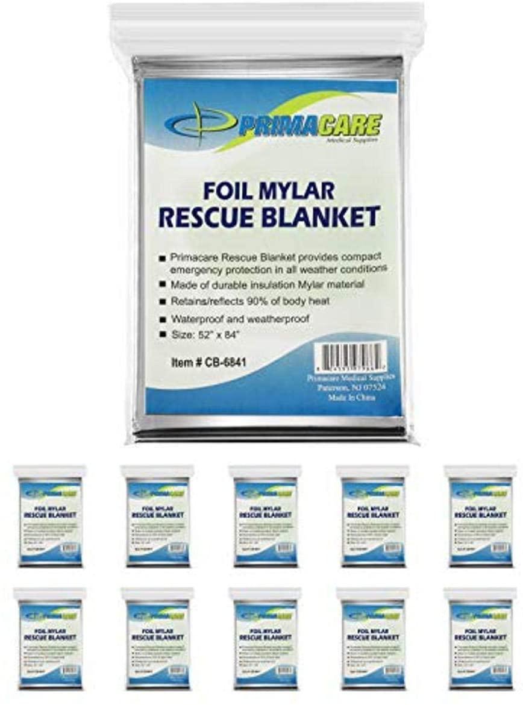 Primacare HB-10 Emergency Mylar Blankets
