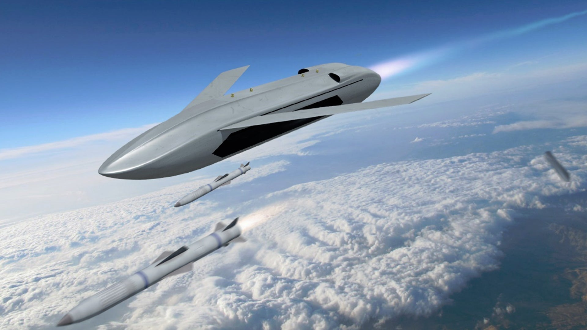 DARPA is developing an air-launched drone missile that fires air-to-air missiles