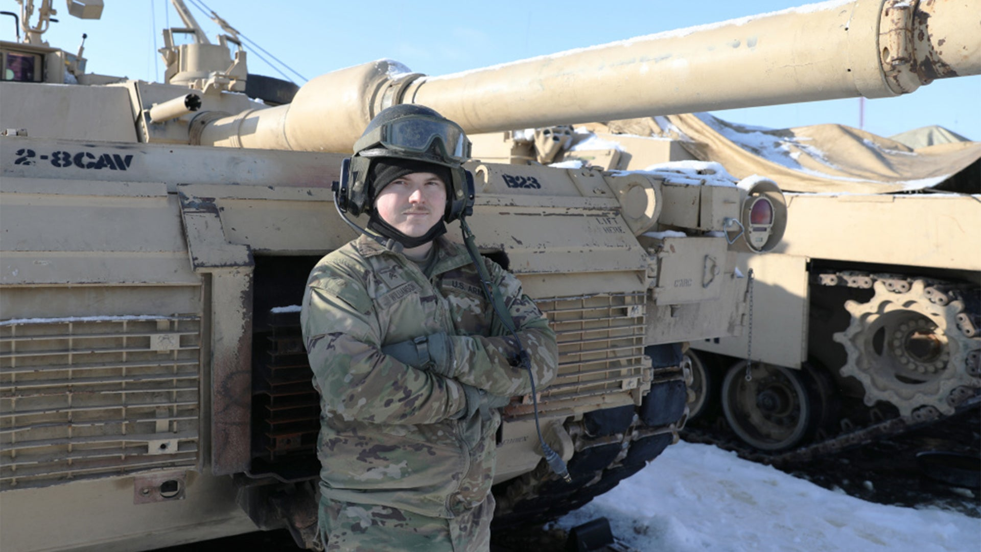 Meet Cpl. Williamson. He's a tanker, and he f—ing loves his job