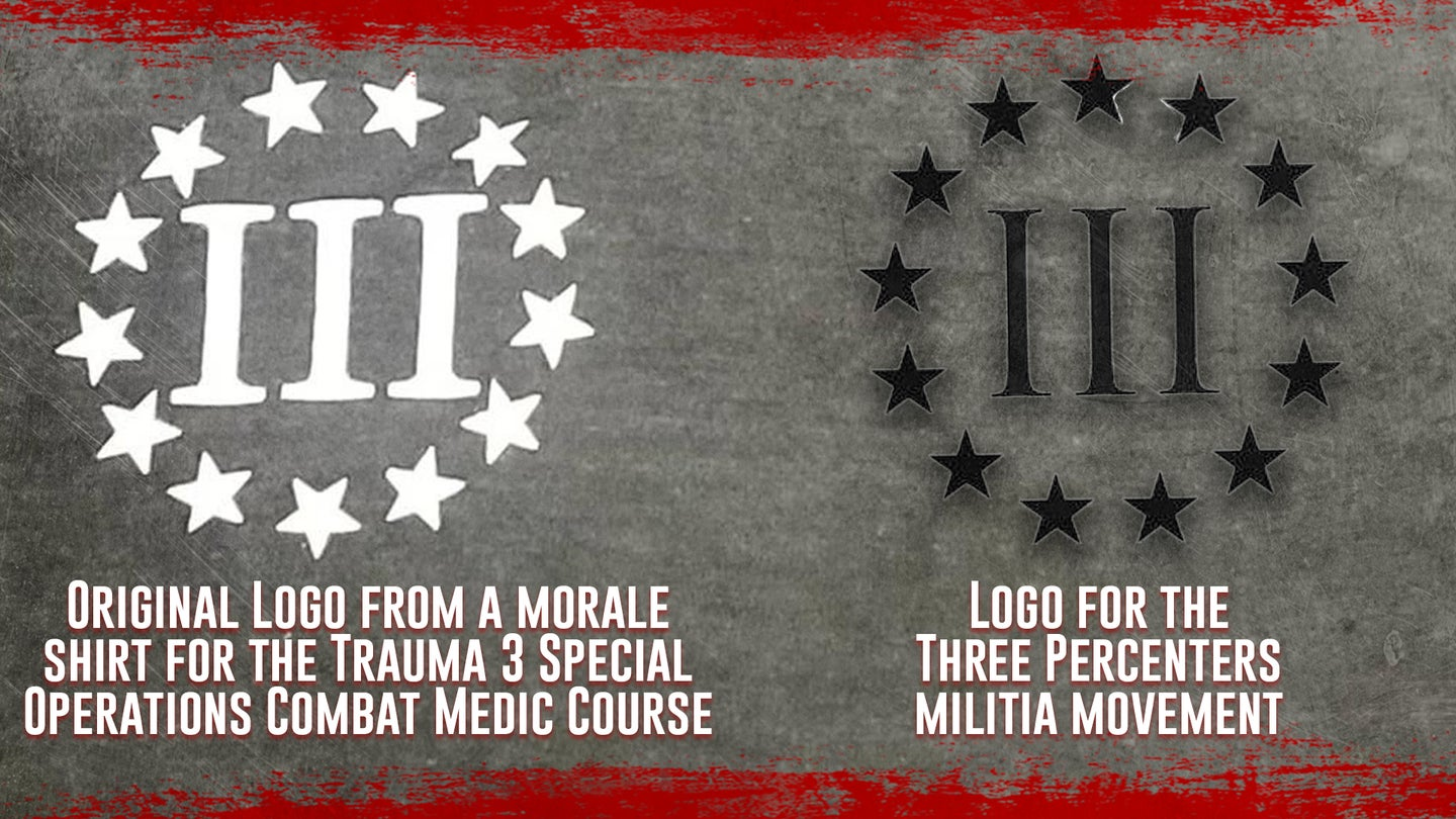 A special operations course accidentally adopted a right-wing militia symbol as its logo